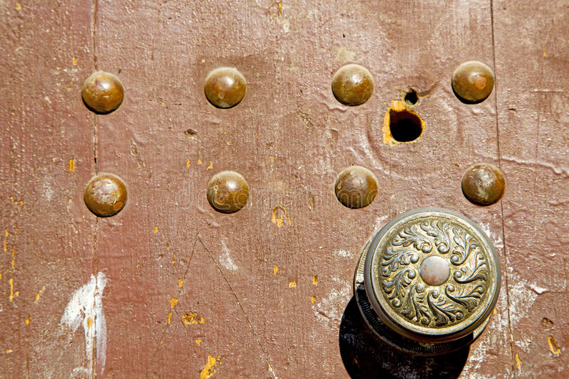 De kloppers van Marokko in Afrika het oude gat royalty-vrije stock foto's