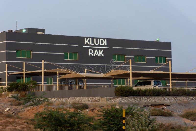 De Kludirak industriële bouw voor loodgieterswerklevering van gootstenen, badkamersinrichtingen enz. stock fotografie
