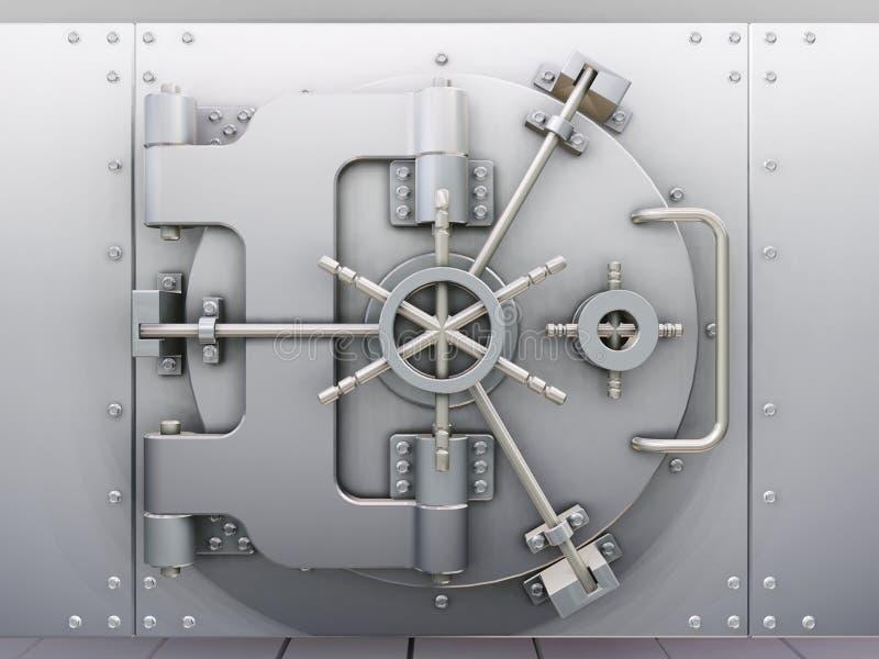 De kluis van de bank vector illustratie
