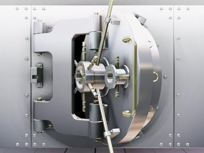 De kluis van de bank stock illustratie