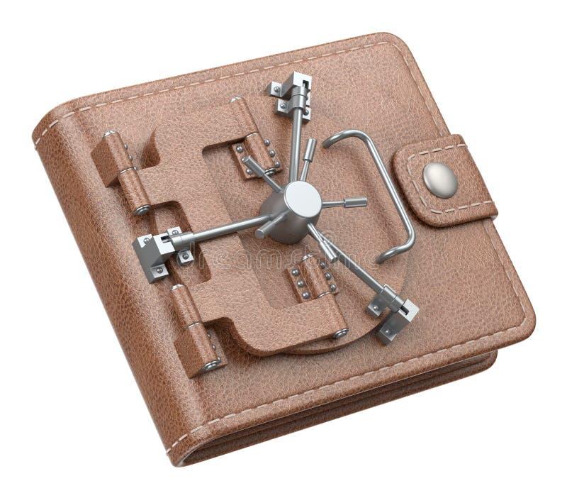 De kluis van de portefeuille royalty-vrije illustratie