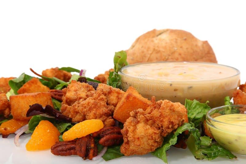 De knapperige Salade van de Kip stock foto