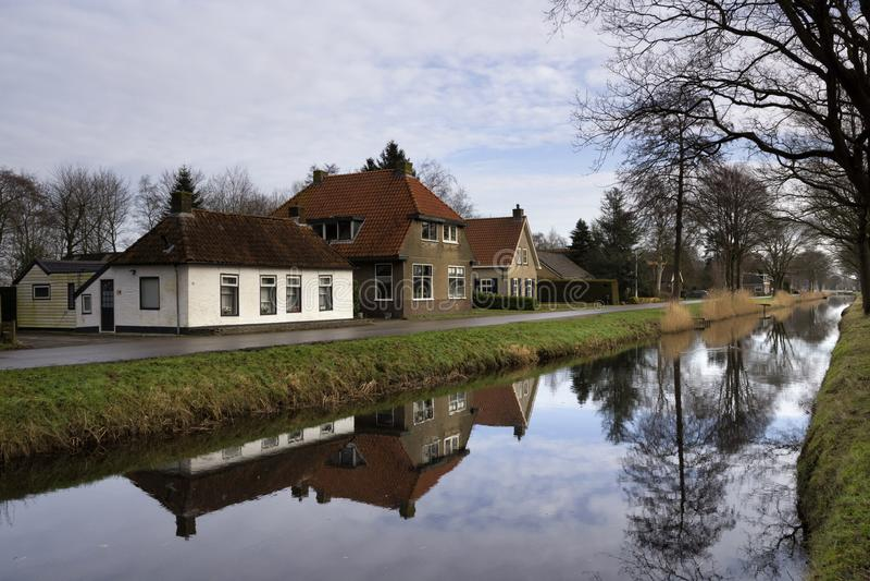 De Knipe cerca de Heerenveen imagen de archivo libre de regalías