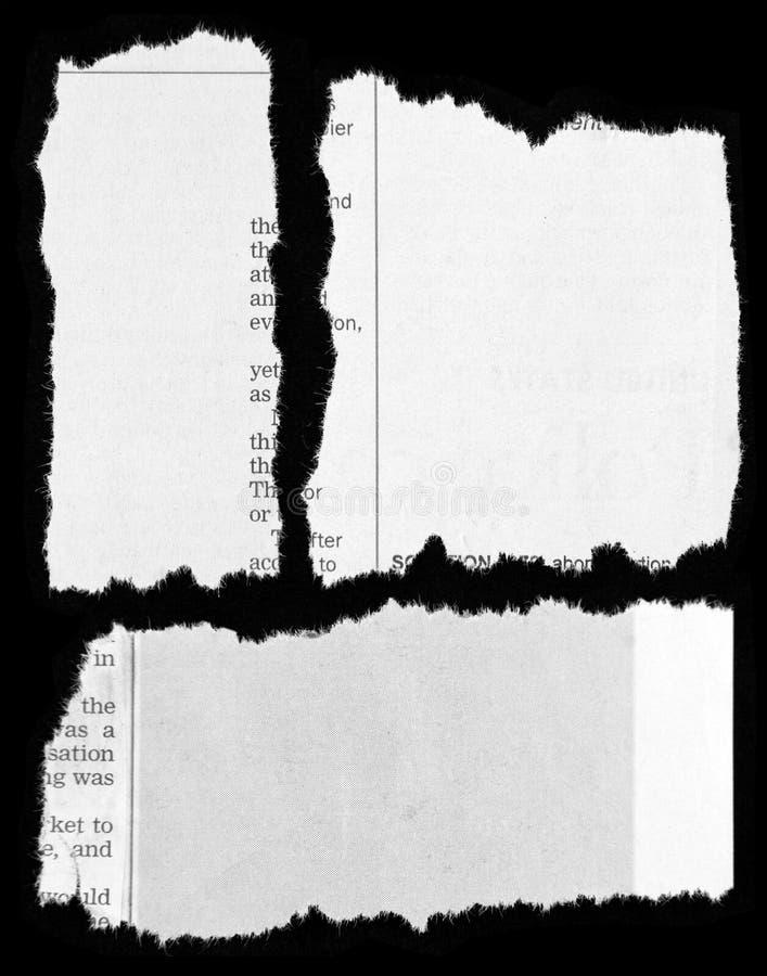 De knipsels van de krant stock fotografie