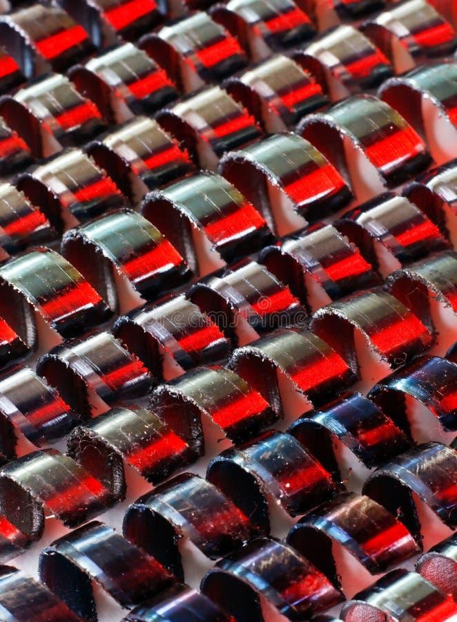 De knipsels van het metaal stock afbeelding