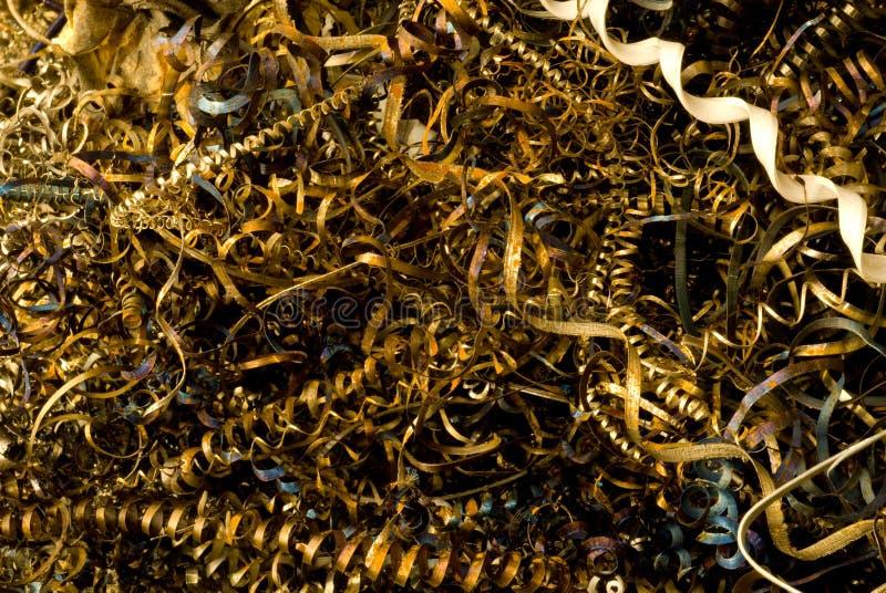 De Knipsels van het metaal stock foto
