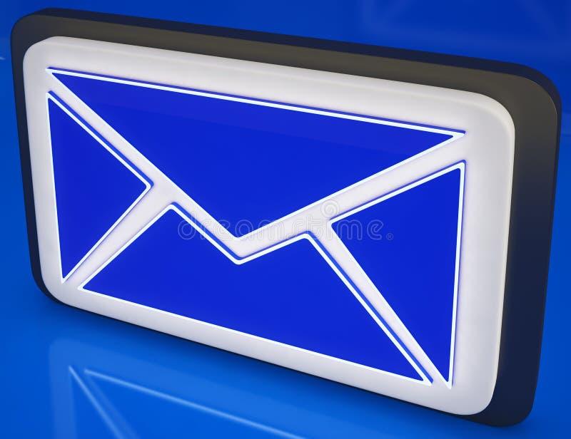 De Knoop die van de envelop Online Post, Berichten tonen stock illustratie