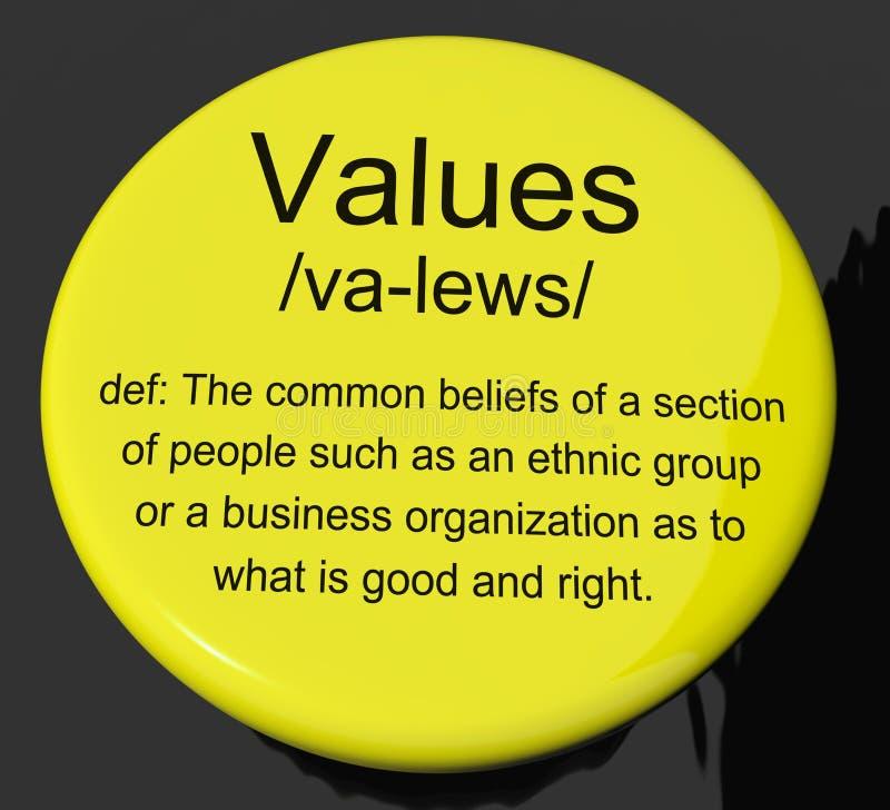 De Knoop die van de waardendefinitie Principesdeugd en Ethiek tonen royalty-vrije illustratie