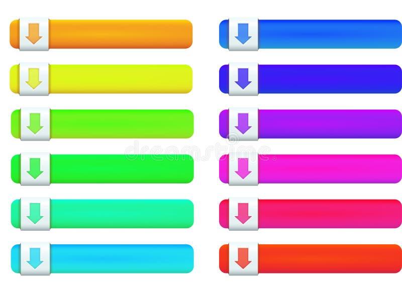 De knoop multicolored pictogrammen van het Web royalty-vrije illustratie