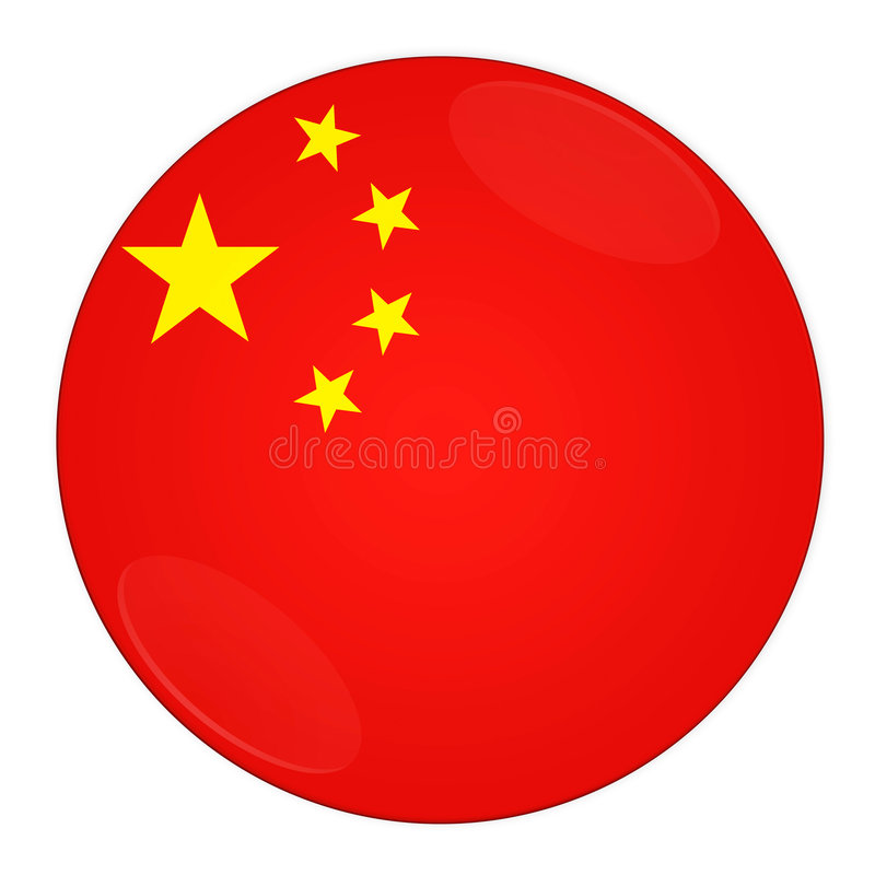 De knoop van China met vlag vector illustratie