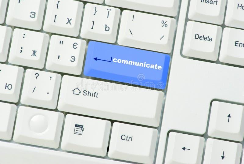 De knoop van communiceert stock foto