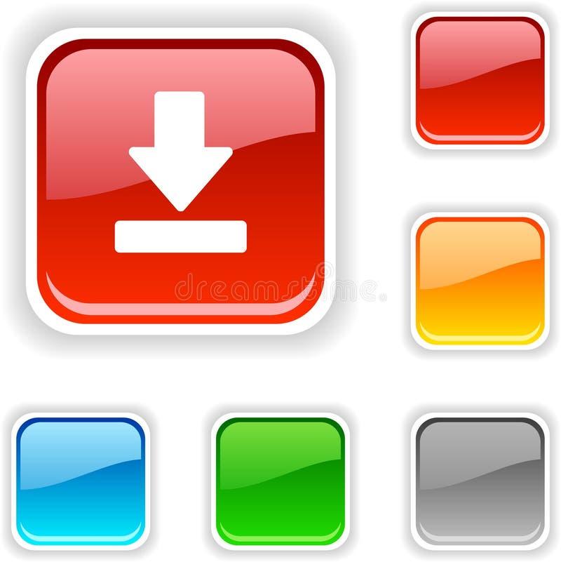De knoop van de download. vector illustratie