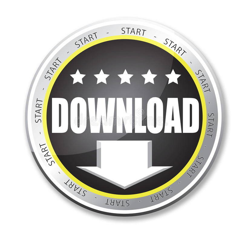 De knoop van de download vector illustratie