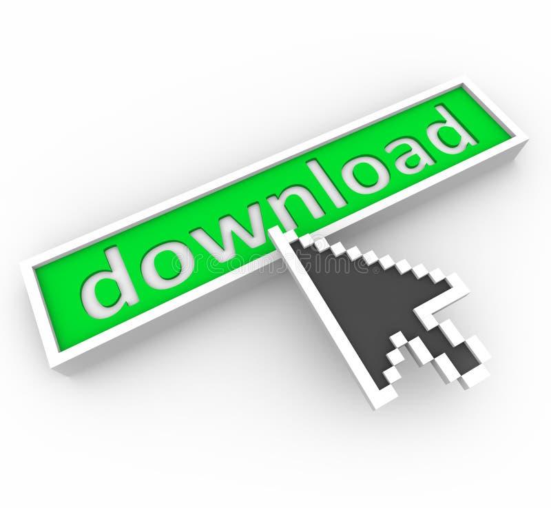 De Knoop van de download en de Pijl van het Web stock illustratie