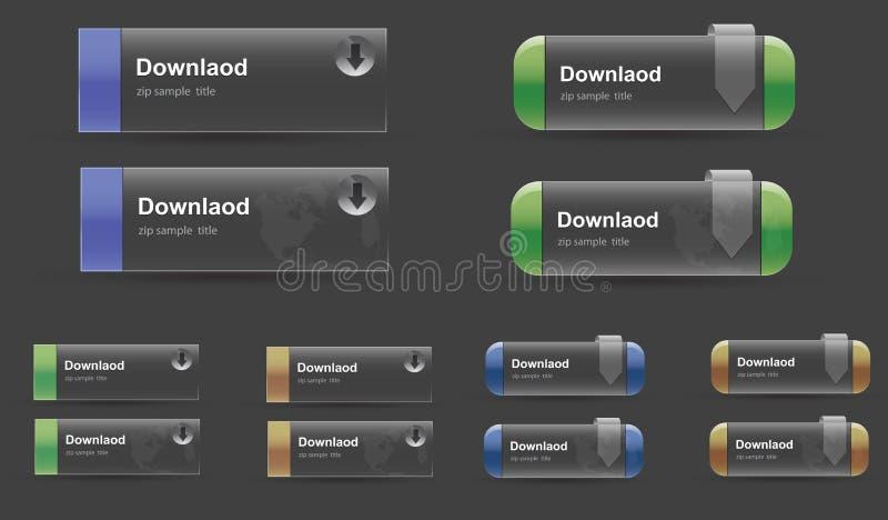 De knoop van de Download van het glas stock illustratie