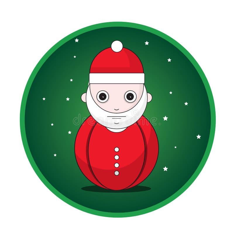 De knoop van de Kerstman royalty-vrije illustratie