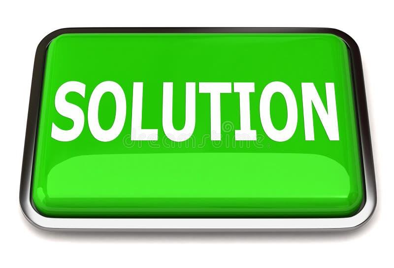 De knoop van de oplossing vector illustratie