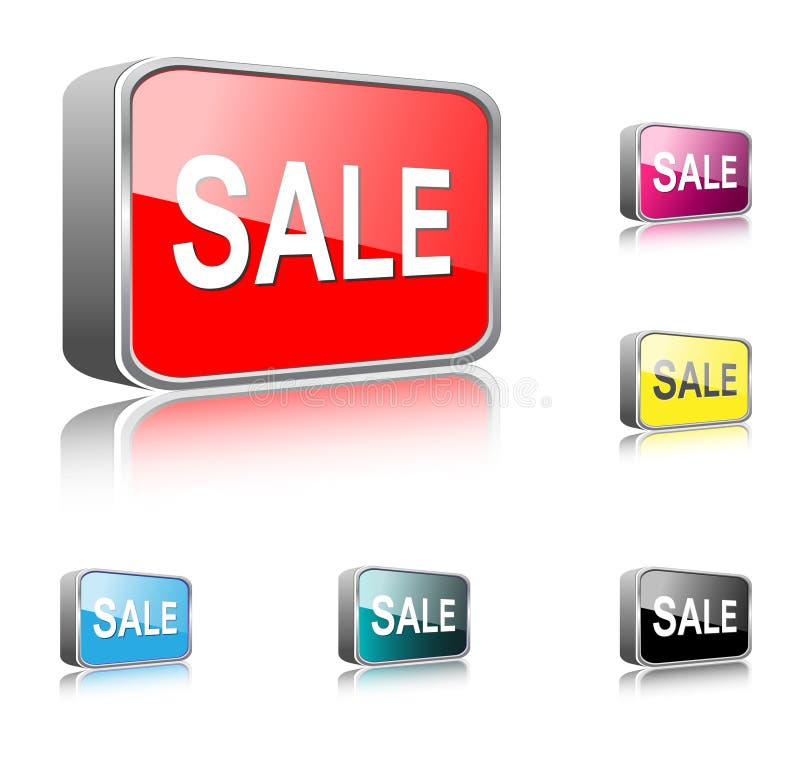 De knoop van de verkoop, pictogram vector illustratie