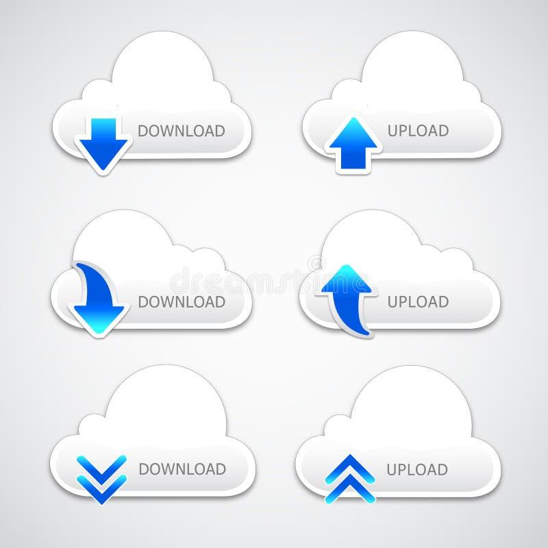 De knoop van de Wolk van de uploaden-download vector illustratie