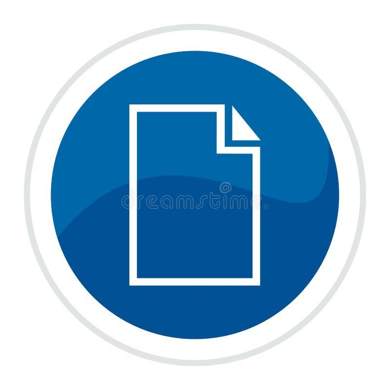 De knoop van het de kaartWeb van het document stock illustratie