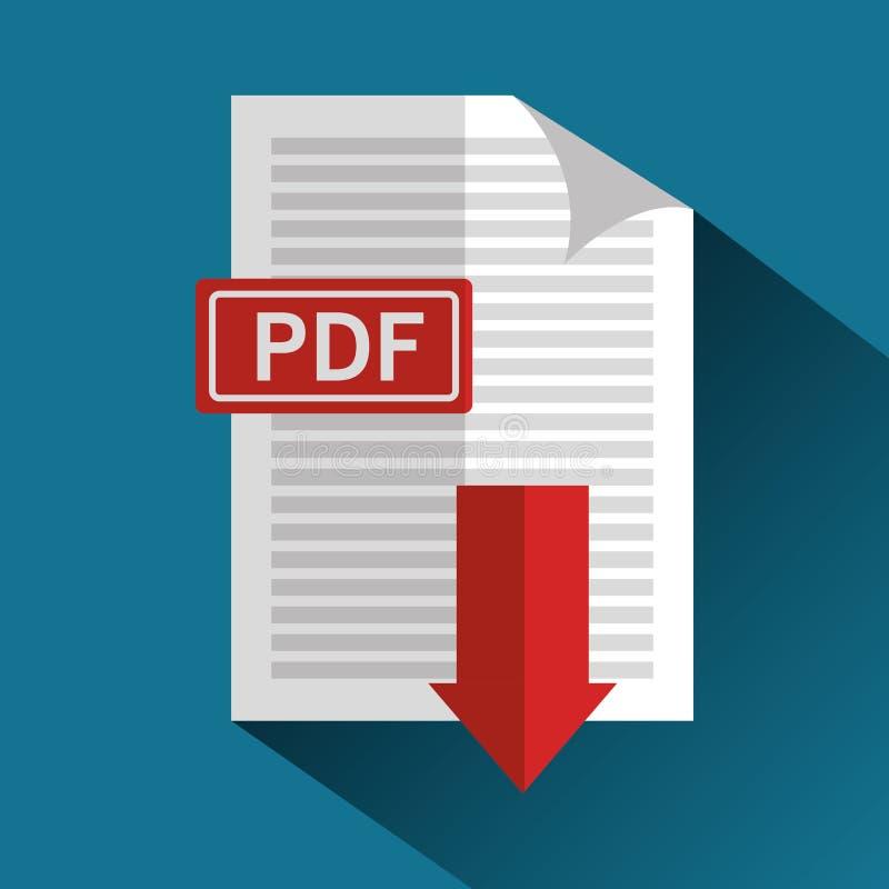 De knoop van het downloadpictogram stock illustratie