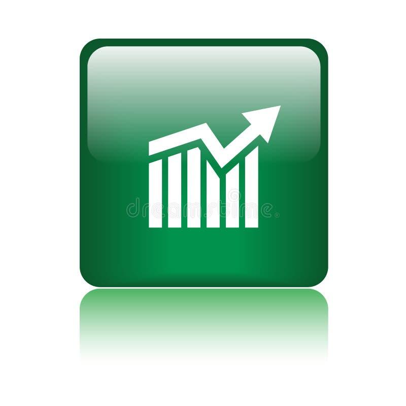 De knoop van het de groeipictogram van de grafiekgrafiek vector illustratie