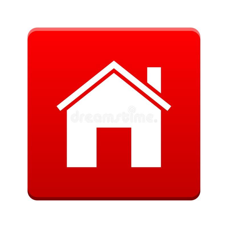 De knoop van het huispictogram stock illustratie