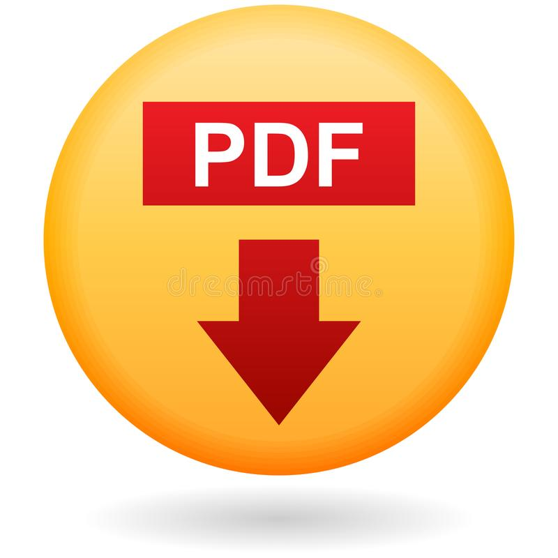 De knoop van de Pdfdownload op wit stock illustratie