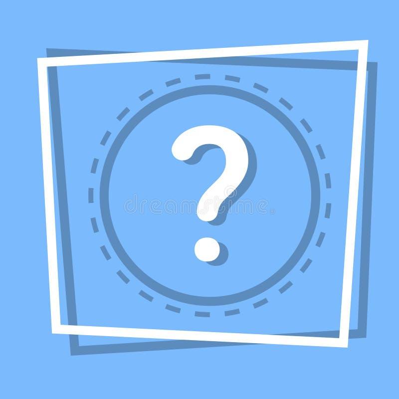 De Knoop van vraagmark icon information help web stock illustratie