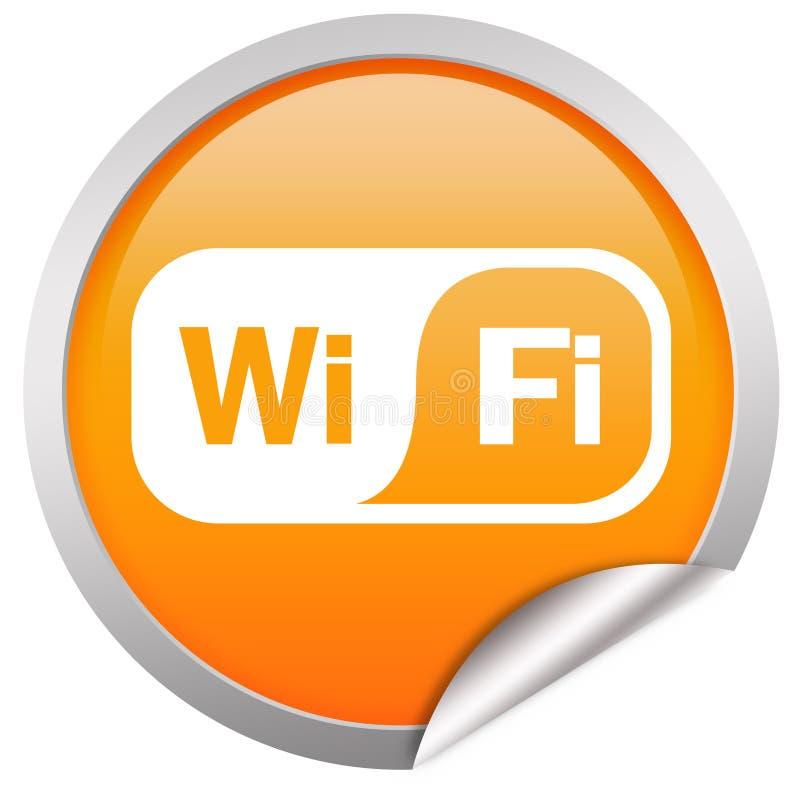 De knoop van Wifi over wit vector illustratie