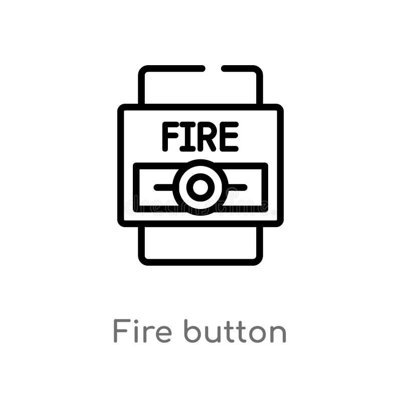 de knoop vectorpictogram van de overzichtsbrand de ge?soleerde zwarte eenvoudige illustratie van het lijnelement van waakzaam con royalty-vrije illustratie
