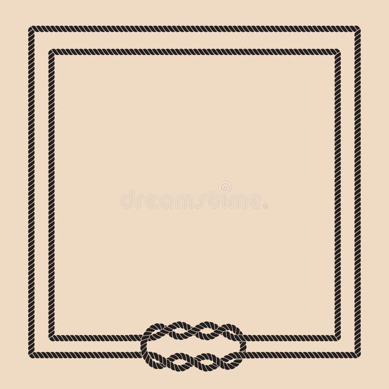 De knoopomlijsting van de zeemanskabel royalty-vrije illustratie