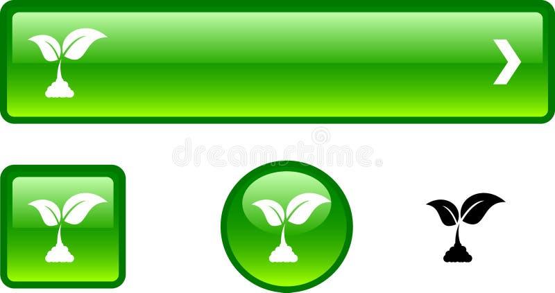 De knoopreeks van de ecologie. vector illustratie