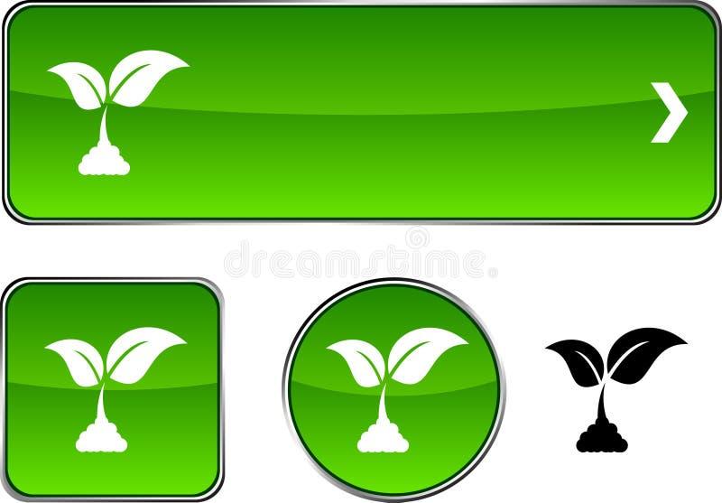 De knoopreeks van de ecologie. royalty-vrije illustratie