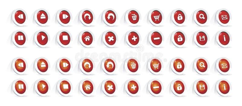 De knoopreeks van het Web stock illustratie