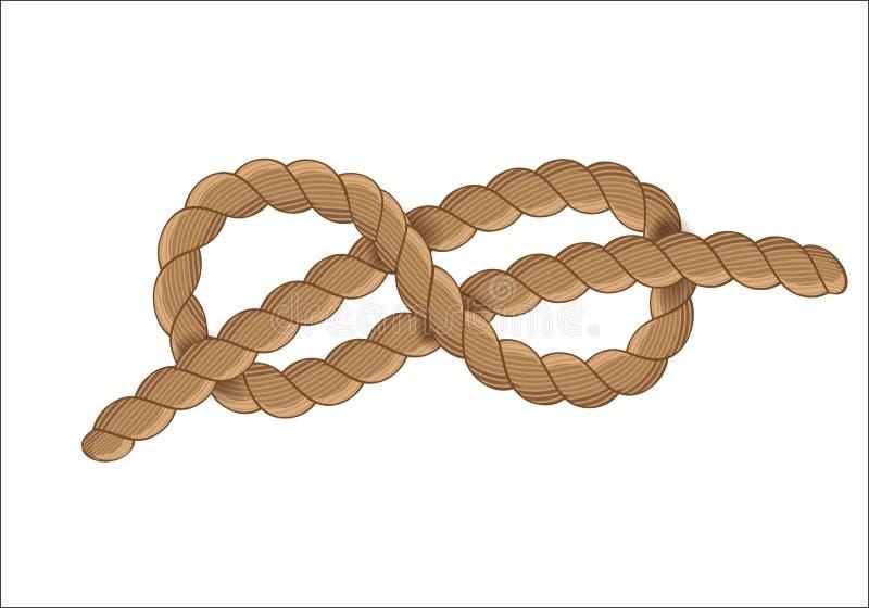 De knoopsymbool van de zeemanskabel stock illustratie