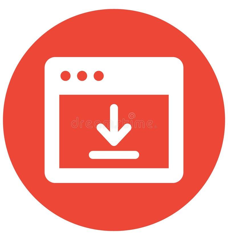 De de knoopvector van de drukdownload had op Webbrowser met betrekking betrekking tot Webbrowservensters en volledig editable de  stock illustratie