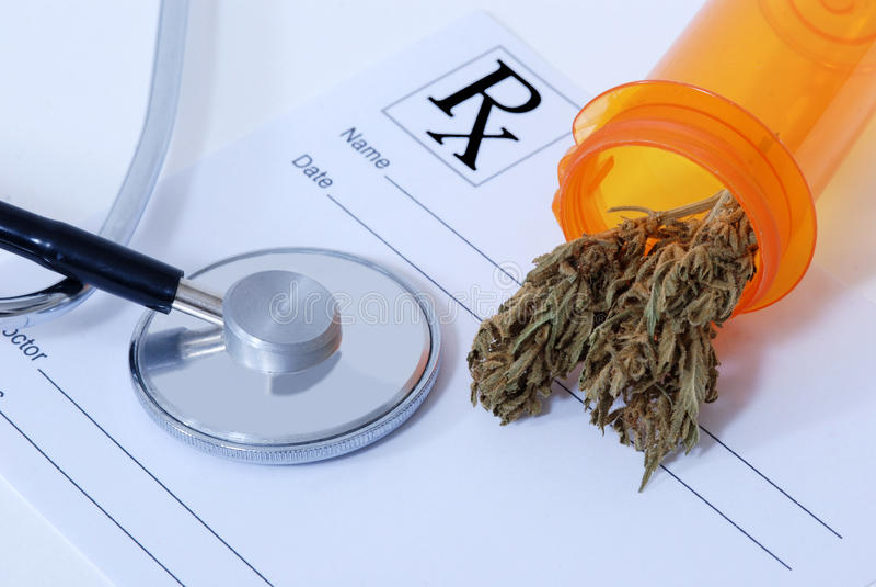 De knop van de cannabis royalty-vrije stock afbeelding