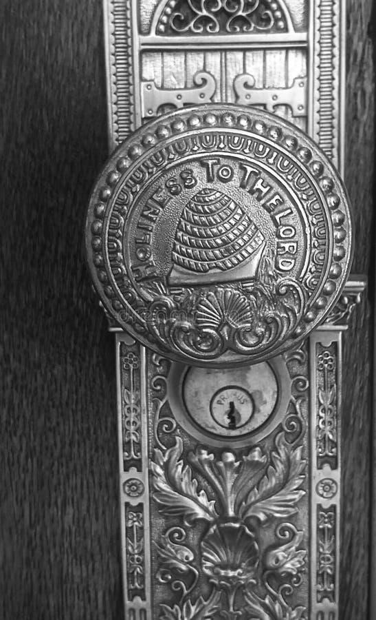 De knop van de tempeldeur stock foto