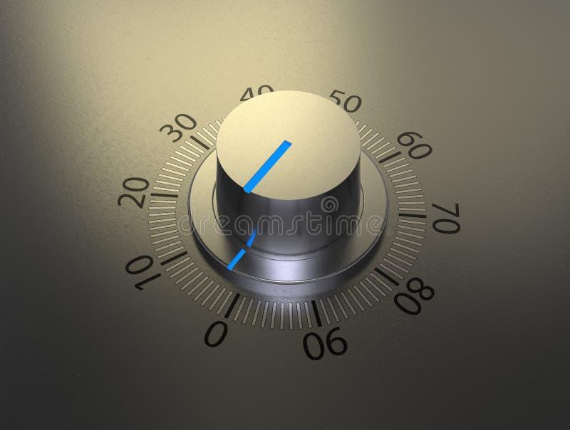 De knop van het volume stock afbeelding