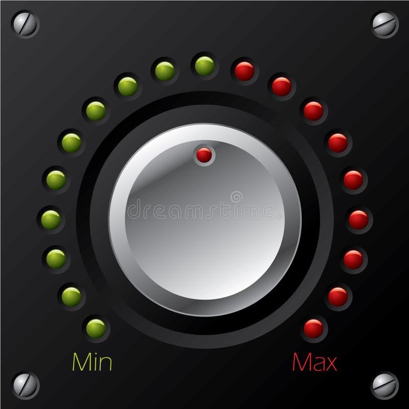 De knop van het volume met leiden stock illustratie