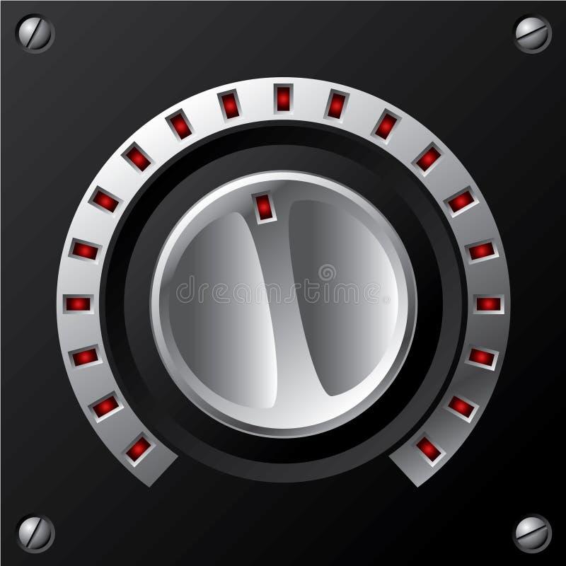 De knop van het volume met leiden vector illustratie