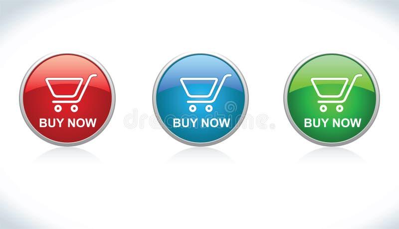 De knopen kopen (voeg aan Kar toe) vector illustratie