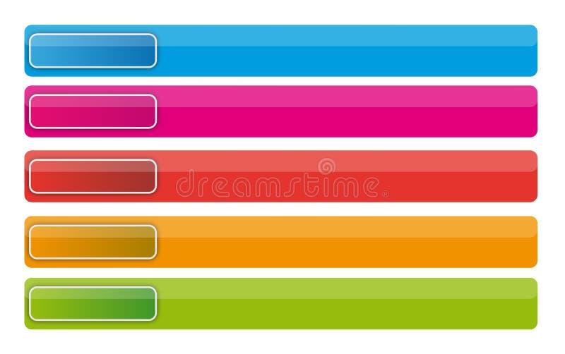 De knopen van de banner vector illustratie