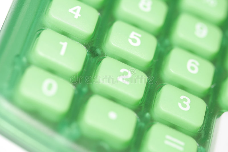 De Knopen van de calculator stock foto's