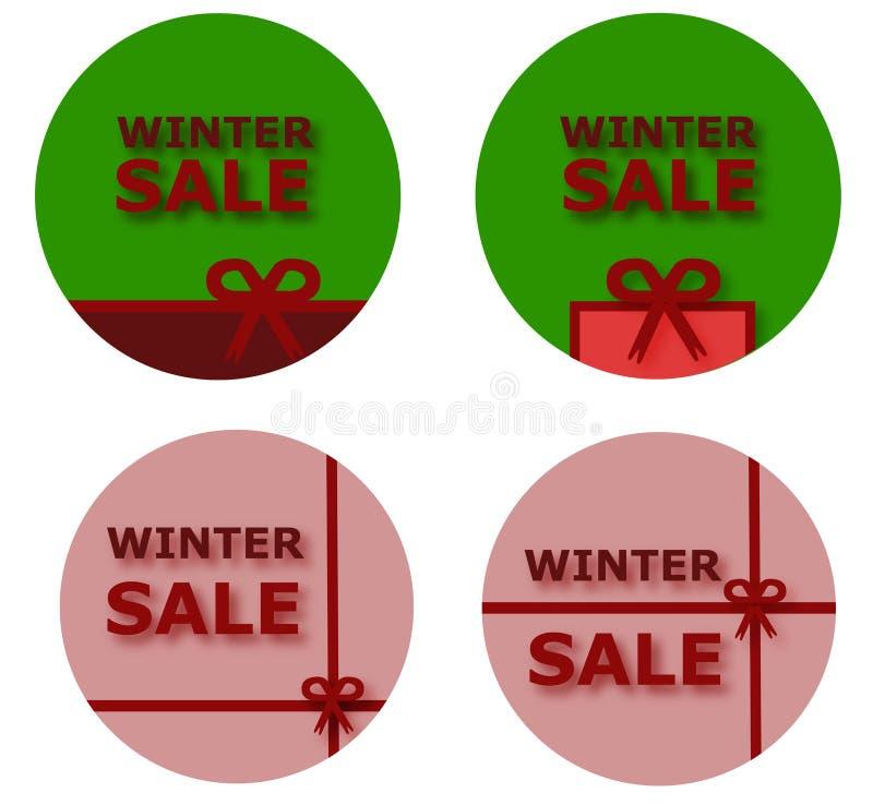 De knopen van de de winterverkoop royalty-vrije stock foto