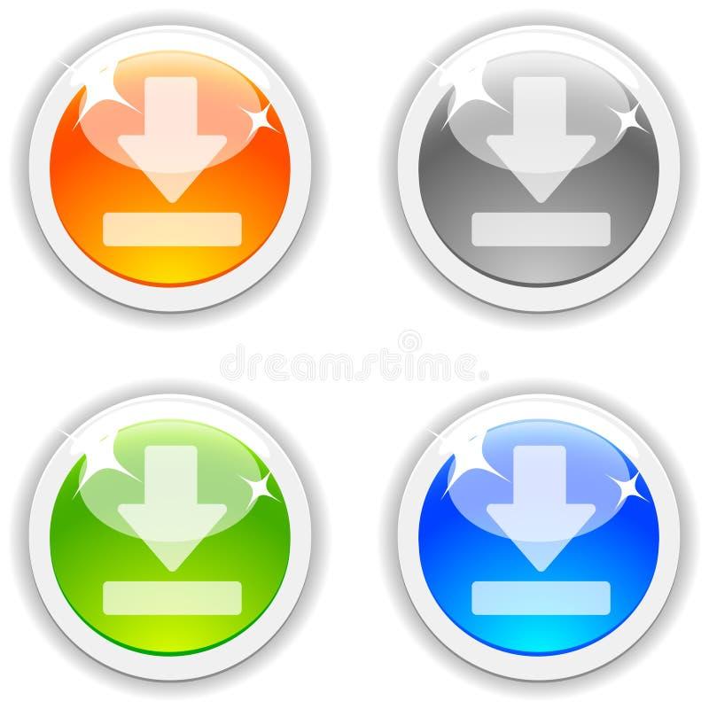 De knopen van de download. vector illustratie