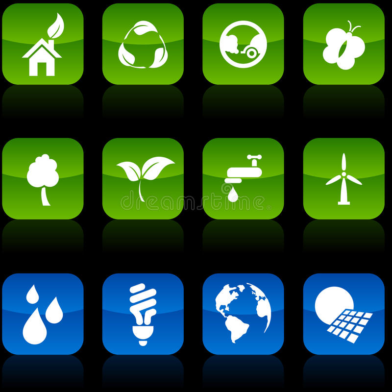 De knopen van de ecologie. royalty-vrije illustratie