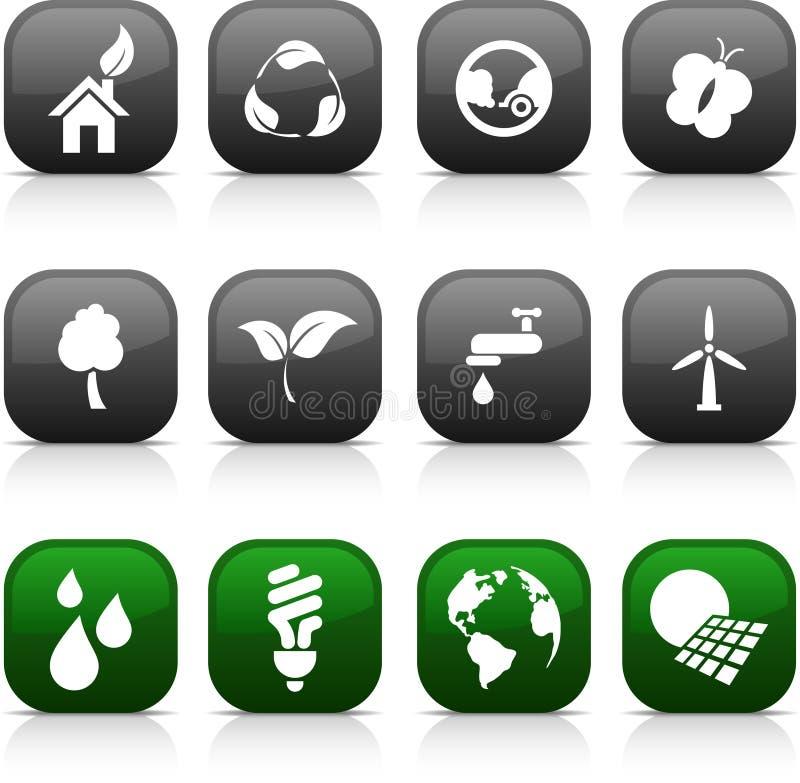 De knopen van de ecologie. vector illustratie
