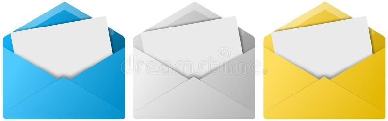 De Knopen van de envelop royalty-vrije illustratie